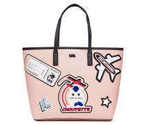 Bedruckter Shopper K/Jet Choupette mit Leder
