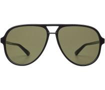 Sonnenbrille mit übergroßen Gläsern