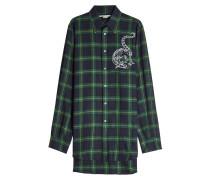Bedrucktes Karo-Hemd aus Wolle
