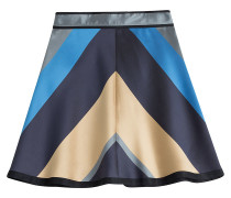 Color-Block-Miniskirt Mikado