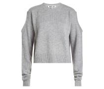 Cold-Shoulder-Pullover aus Wolle und Kaschmir