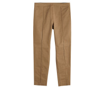Cropped Straight Leg Pants aus Baumwolle