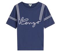 Besticktes T-Shirt aus Baumwolle