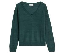V-Neck Pullover aus Wolle und Mohair