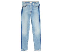 Straight Leg Jeans Stunner Zip Ankle Step mit Kontrastnähten