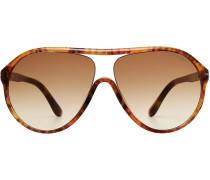 Oversize-Sonnenbrille Edison in heller Schildpatt-Optik