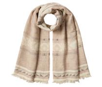 Gemusterter Schal mit Baumwolle und Schurwolle