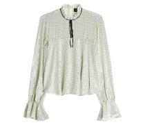 Bedruckte Bluse mit Volantsärmeln