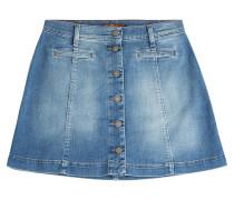 Flared-Skirt aus Denim mit Knöpfen
