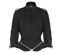 Schößchen-Jacke aus Baumwolle mit Rundum-Zipper