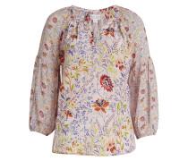Bedruckte Bluse Kandee mit Puffärmeln