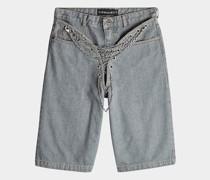 Bermuda-Shorts aus Denim mit Kettendetails