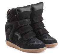 Wedge-Sneakers Beckett aus Veloursleder und Leder