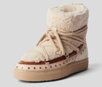 Boots mit Fellbesatz