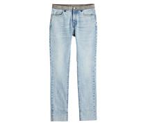 Straight Leg Jeans mit Applikationen