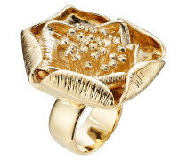 18 kt vergoldeter Blüten-Ring