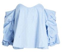 Bestickte Off-Shoulder-Bluse aus Baumwolle