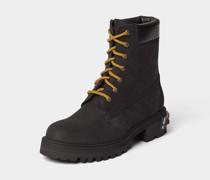 Boots mit Brand-Detail