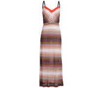 Maxi-Dress aus Zickzack-Strick