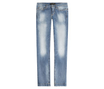 Straight-Leg-Jeans mit Distressed-Effekten
