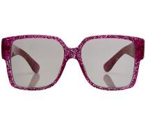 Oversized Sonnenbrille mit Glitter
