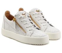 Geprägte Sneakers aus Leder