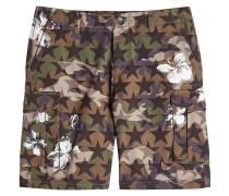 Bedruckte Shorts Camustars aus Baumwolle