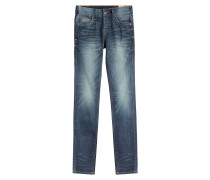 Relaxed-Skinny-Jeans aus Baumwolle