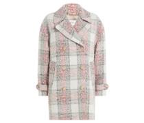 Karierter Mantel mit Baumwolle und Wolle