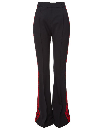 High Waist Flared Pants mit Wolle