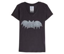 Bedrucktes T-Shirt mit Baumwolle
