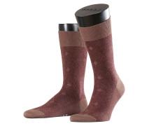 Gemusterte Socken mit Wolle und Baumwolle