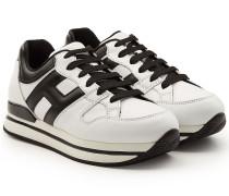 Plateau-Sneakers aus Kalbsleder