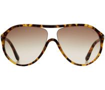 Oversize-Sonnenbrille Edison in Schildpatt-Optik
