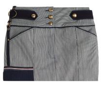 Gestreifter Mini-Skirt aus Denim