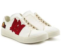 Bestickte Sneakers aus Textil