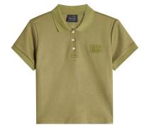 Besticktes kurzes Poloshirt