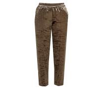 Cropped Straight Leg Pants aus Samt