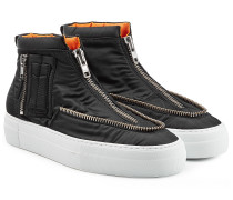 High-Top-Sneakers mit Zippern und Plateausohle