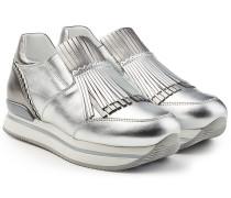 Plateau-Sneakers aus Leder mit Quasten