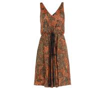 Cocktail-Dress aus Seiden-Jersey im Metallic-Look