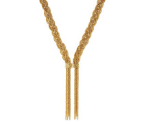 18k vergoldete Halskette Miki in Flechtoptik