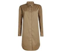 Hemdkleid aus Baumwolle und Leinen