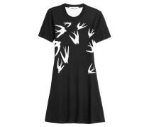 Flared-Dress aus Wolle mit Intarsien-Muster