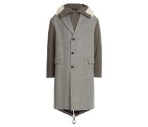 Parka-Mantel aus Wolle und Baumwolle