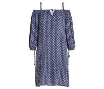 Off-Shoulder-Kleid mit Print