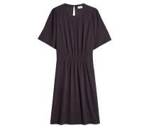 Kleid aus Crêpe mit Raffung