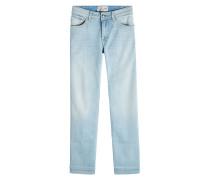 Cropped Jeans mit Ziernähten