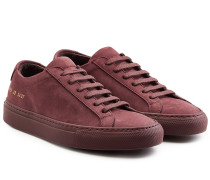 Low Top Sneakers aus Veloursleder