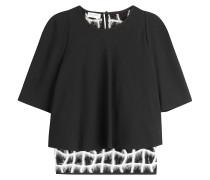 Evening-Shirt im Layering-Look mit Spitze